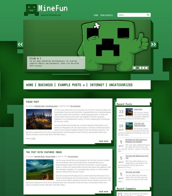 Temas responsivos para páginas web estilo Juegos - Games